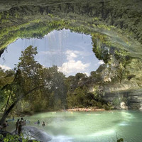 swim at the Hamilton Pool Nature Preserve in Texas