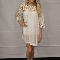 Lacey Lu Dress White - Modern Vintage Boutique