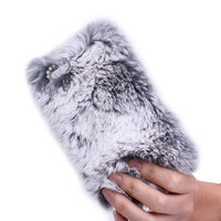 Rhinestone Winter Warm fur with Lace Cover for iPhone 4/4s/5