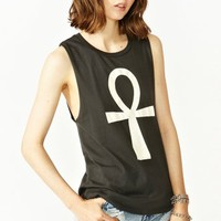 Ankh Cross Muscle Tee