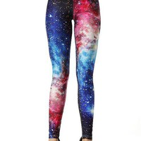 Fashion Women Galaxy Leggings DK018: tidestore.com