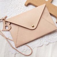 Personalized Envelope Clutch with Initial Letters  by harlex