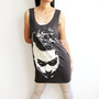 Joker Heath Ledger Batman Shirt Tribute Black Woman Tunic Tank Top Women Singlet Top Dress Size M
