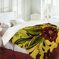 Gina Rivas Design Henna Floral Duvet Cover