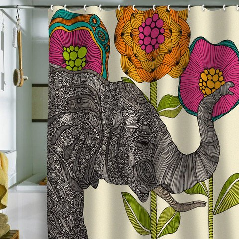 Funky shower curtains - Shannon