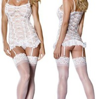 Feminine Bridal Lace Lingerie Set