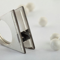 A Rolling Stone Sterling Silver with black onyx ring by TomerM