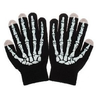 White Ghost Hand Pattern Universal Touch Gloves in Winter for Touch Screen Phone Tablet PC [4906] - US$7.49 - China Electronics Wholesale - FlyDolphin.com
