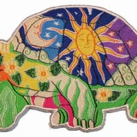 Artist Dan Morris Turtle Tortoise Iron On Hippie Patch