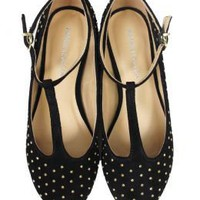 Marais BACK IN STOCK! T-Strap Stud Flats - Shop Marais - Product Detail - Les Nouvelles