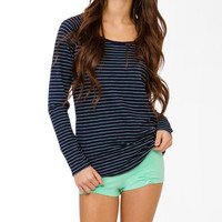 Striped Shirred PJ Set