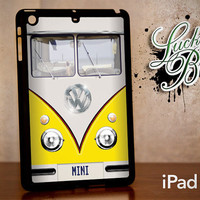 iPad Mini Hard Case - Yellow VW Bus Retro Vintage - Tablet Cover IPM