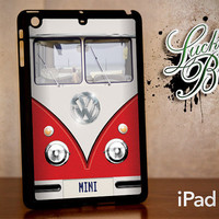 iPad Mini Hard Case - Red VW Bus Retro Vintage - Tablet Cover IPM