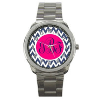 Monogram Watch Stainless Steel Personalized by InitiallyPink