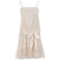 Lace belted flapper dress - Polyvore