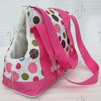 "Pet Outdoor Carrier Travel Carry Dog Cat Bag Puppy Tote Handbag Hot Pink 14.5X6.6X9.8"" inch T145"