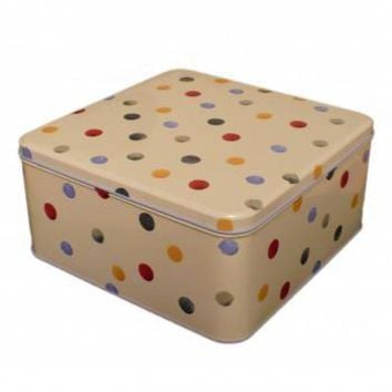Emma Bridgewater Polka Dot Square Tin - Enamel / Tinware from the gifted penguin UK