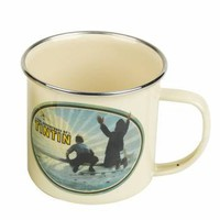 The Adventures Of Tintin Enamel Mug - Aeroplane - Gifts For Children from the gifted penguin UK