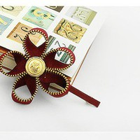 Fashion Zip Fabric Flower Hair Clip at Online Cheap Fashion Jewelry Store Gofavor