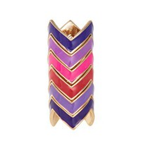 ASOS Zig Zag Enamel Rings at asos.com