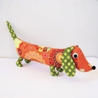 Plush Wiener Dog Toy Dachshund CHET by FriendsOfSocktopus on Etsy