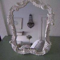 RACHEL ASHWELL SIMPLY SHABBY CHIC WHITE FRENCH DRESSER MIRROR | eBay