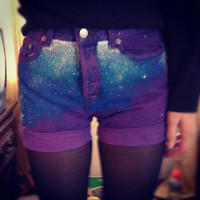 Purple Galaxy Shorts(reserved for jayde shaw)