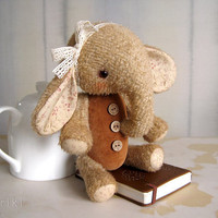 Pattern to make Teddy like Elefant Sasha Beige grey by zverrriki