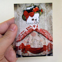 ACEO/ATC Marie Antoinette Artists Trading Card by solocosmo