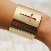 Cut Out Cross Cuff