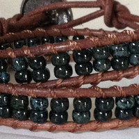 Double Wrap Bracelet Chan Luu Inspired 6/0 by Jennasjewelrydesign