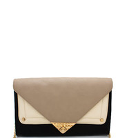 colorblock-clutch BLACKTAUPE PEACHMINT - GoJane.com