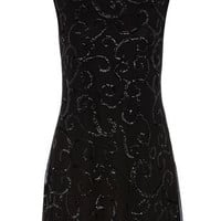 Black sequin mesh dress - Dorothy Perkins United States