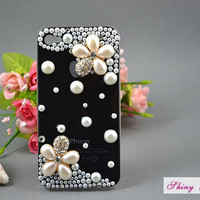 Christmas GiftiPhone 4 case unique pearl flower by ShinyGift
