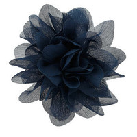 Navy chiffon flower corsage - Jewelry - Accessories - Dorothy Perkins United States