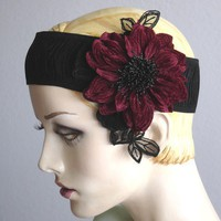 Flapper Style Ruched Elastic Headband With Velvet by ohmama