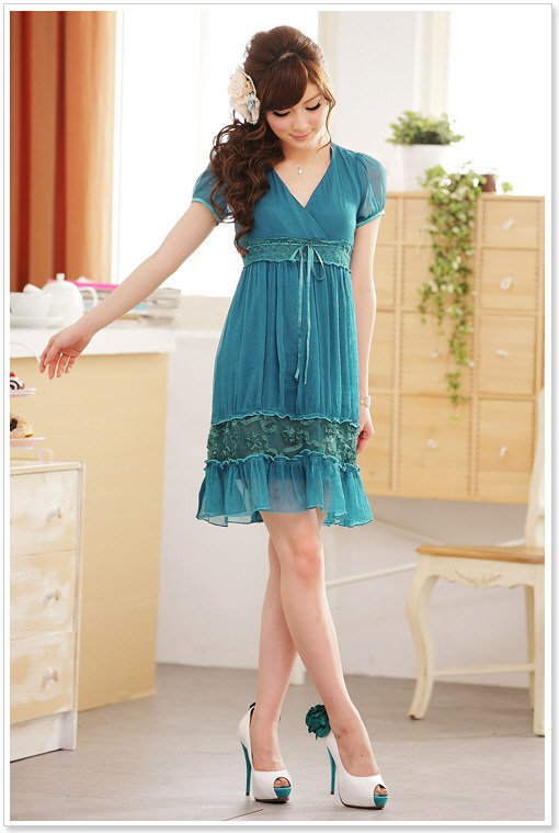 Cheap Elegant Girls Green Formal Dresses