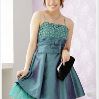 Fashionable Party Green dresses for girls 