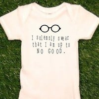 Harry Potter Onesuit I Solemnly Swear That I am Up To No by uVinyl