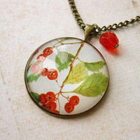 Free Shipping Red Berries Necklace by smafactory on Etsy