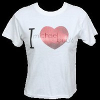 I Heart Michael Buble Foil Jrs T-Shirt