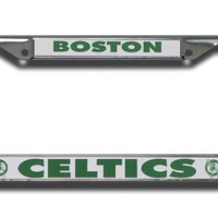 Rico Boston Celtics Chrome License Plate Frame