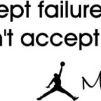 I can accept failure... I can't accept not trying Michael Jordan MJ inspirational basketball wall q