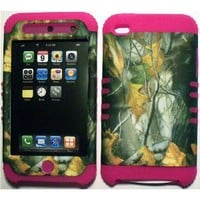 Amazon.com: Camo Mossy Oak on Pink Silicone Skin for Apple ipod Touch iTouch 4G 4 Hybrid 2 in 1 Rubber Cover Hard Case: Cell Phones & Accessories