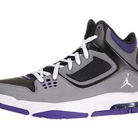 Air Jordan Flight 23 RST Black Cool Grey Club Purple White Mens Basketball