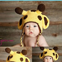 Pdf Giraffe Crochet Hat Pattern 0-3.. on Luulla
