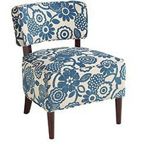 Pier 1 Imports > Catalog > Furniture > Pier1ToGo Product Details - Teal Floral Cadman Chair