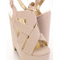 Nude Faux Suede Strappy Front Stylish Platform Wedges @ Amiclubwear Wedges Shoes Store:Wedge Shoes,Wedge Boots,Wedge Heels,Wedge Sandals,Dress Shoes,Summer Shoes,Spring Shoes,Prom Shoes,Women&#x27;s Wedge Shoes,Wedge Platforms Shoes,floral wedges,Fashion Wedge