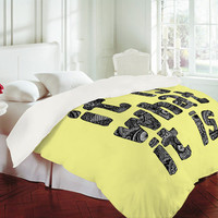 DENY Designs Home Accessories | Romi Vega What It Is Yellow Duvet Cover