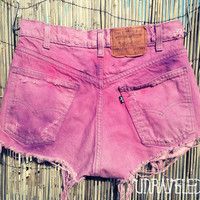 Tie Dyed Denim Shorts (SMALL-MEDIUM)